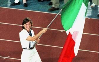 La campionessa di scherma italiana Giovanna Trillini