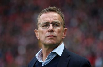 BERLIN, GERMANY - MAY 25: Ralf Rangnick, Manager of RB Leipzig looks on prior to the DFB Cup final between RB Leipzig and Bayern Muenchen at Olympiastadion on May 25, 2019 in Berlin, Germany. (Photo by Alex Grimm/Bongarts/Getty Images)