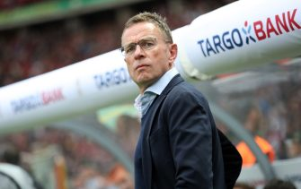 BERLIN, GERMANY - MAY 25: Ralf Rangnick, Manager of RB Leipzig looks on prior to the DFB Cup final between RB Leipzig and Bayern Muenchen at Olympiastadion on May 25, 2019 in Berlin, Germany. (Photo by Maja Hitij/Bongarts/Getty Images)
