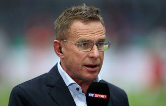 BERLIN, GERMANY - MAY 25: Ralf Rangnick, head coach of RB Leipzig, is seen during an interview prior the DFB Cup final between RB Leipzig and Bayern Muenchen at Olympiastadion on May 25, 2019 in Berlin, Germany. (Photo by Alex Grimm/Bongarts/Getty Images)