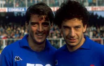 Gianluca Vialli e  Roberto Mancini / Sampdoria