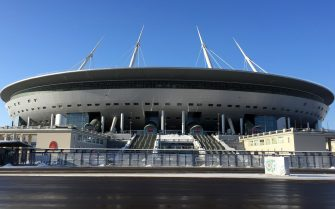 Stadio di San Pietroburgo, in Russia