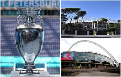 Europei 2021, tutti gli stadi dove si giocheranno le 51 partite. FOTO