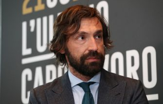 MILAN, ITALY - APRIL 12:  Andrea Pirlo speaks to the media during a press conference to announce Andrea Pirlo farewell match on April 12, 2018 in Milan, Italy.  (Photo by Marco Luzzani/Getty Images)