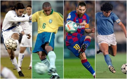 Giornata dei mancini, i piedi sinistri magici del calcio. FOTO