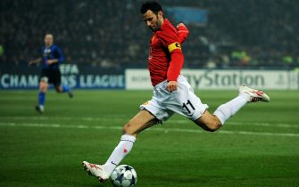of Inter Milan of Manchester United during the UEFA Champions League, Round of Last 16, First Leg match between Inter Milan and Manchester United at the San Siro Stadium on February 24, 2009 in Milan, Italy.