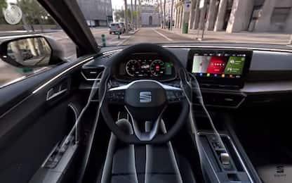 Al volante della nuova Seat Leon con la realtà virtuale