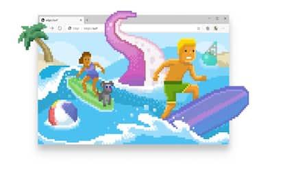 Microsoft Edge, il minigioco nascosto di surf da giocare offline