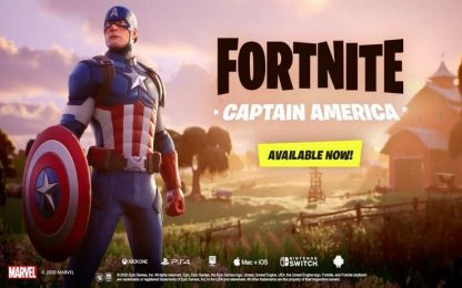Fortnite, la skin di Capitan America è ora disponibile