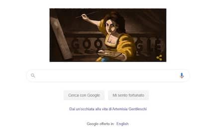 Google dedica un doodle alla pittrice italiana Artemisia Gentileschi