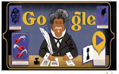 Google celebra lo scrittore Alexandre Dumas nel doodle di oggi