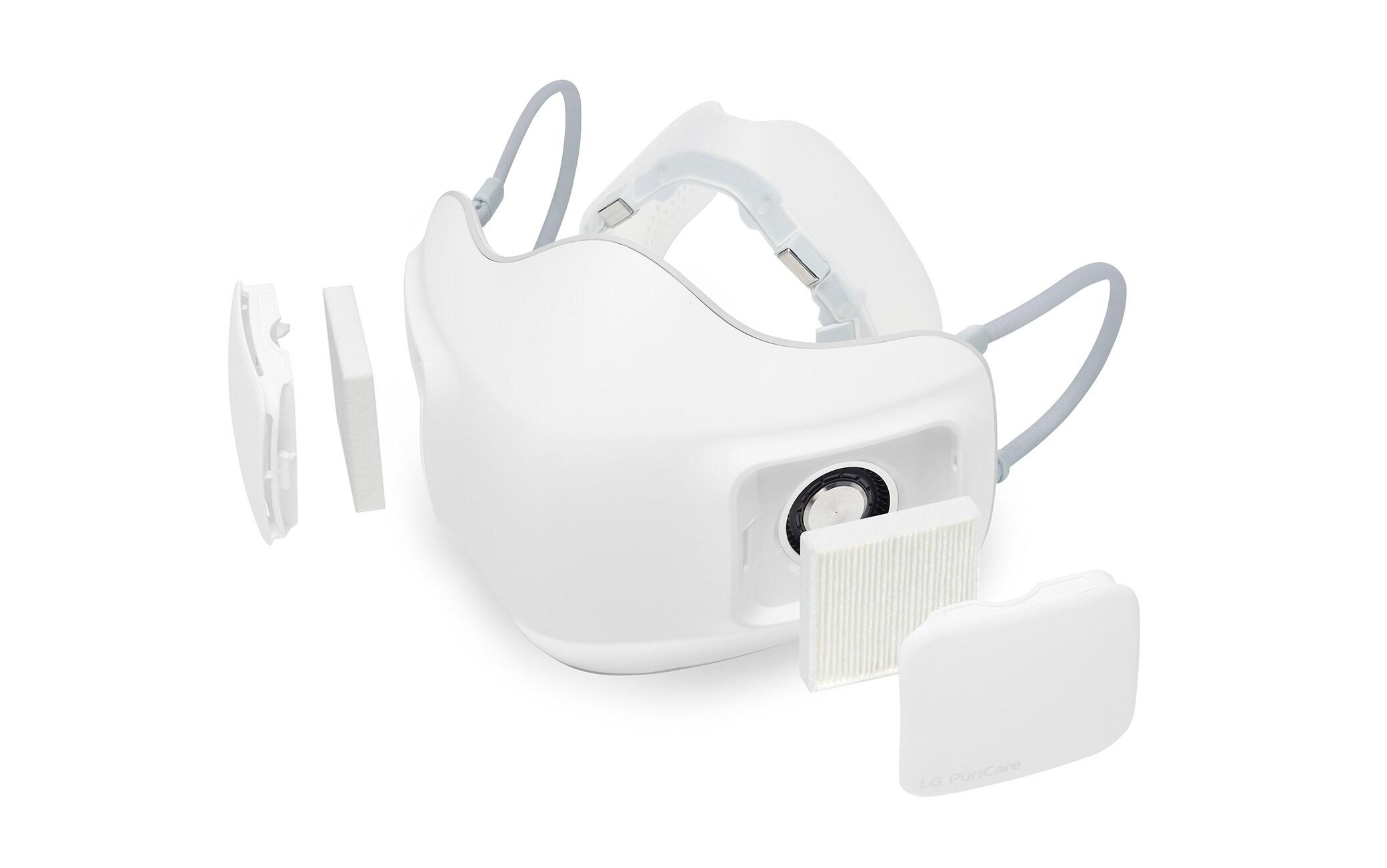 """La """"mascherina elettronica"""" LG PuriCare Wearable Air Purifier"""