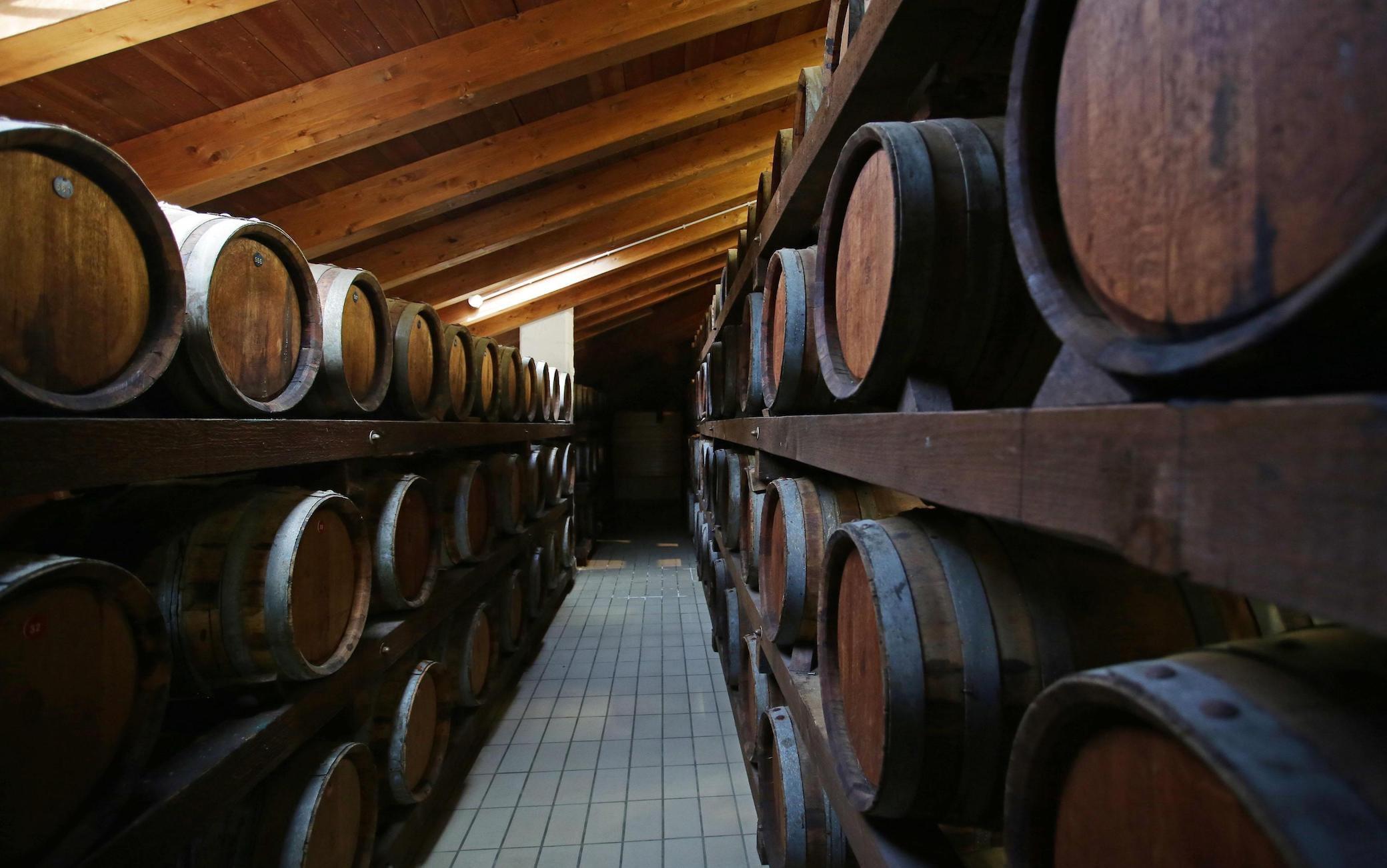 Una delle acetaie per la produzione e l'invecchiamento dell'aceto Balsamico di Modena e il Tradizionale di Reggio Emilia del gruppo agroalimentare Ferrarini di Reggio Emilia, 22 aprile 2015.ANSA/ELISABETTA BARACCHI