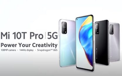 Xiaomi presenta i nuovi smartphone Mi 10T Pro, Mi 10T e Mi 10T Lite