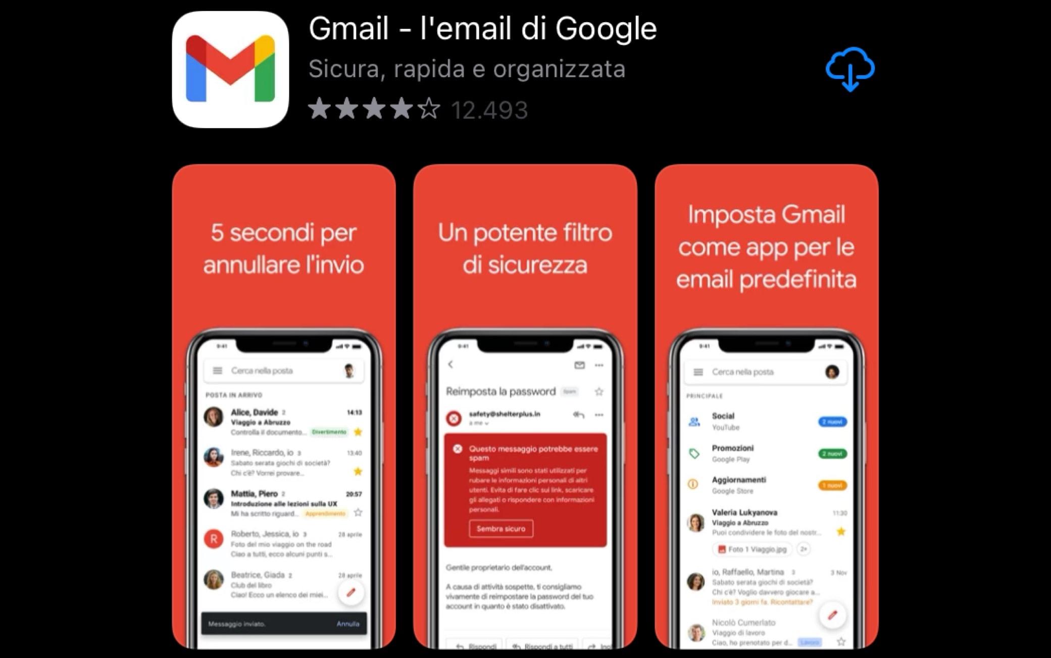 Il nuovo logo di Gmail