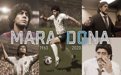 Pes e Fifa, Konami ed Ea ricordano Diego Armando Maradona