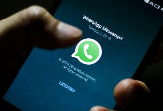 epa06398355 (FILE) - The logo of the messaging application WhatsApp is pictured on a smartphone in Taipei, Taiwan, 07 April 2016 (reissued 19 December 2017). According to reports, the German cartel office on 19 December 2017 found that Facebook has abused its dominant market position. The preliminary findings suggest that Facebook's targeted advertising also uses third-party data collected from the social network's subisidiaries WhatsApp and Instagram.  EPA/RITCHIE B. TONGO *** Local Caption *** 53792142