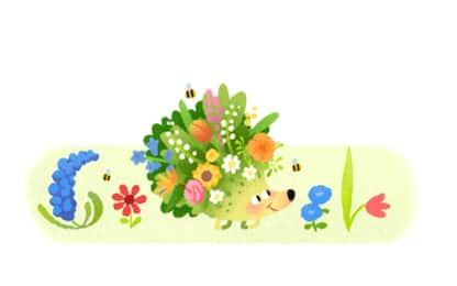 Il benvenuto alla primavera nel Doodle di Google di oggi
