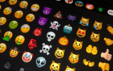 09 July 2020, Berlin: Different emojis are shown on a tablet. From meanwhile more than 3000 different Emojis you can find the right Emoji for almost every occasion. Photo: Jörg Carstensen/dpa (Photo by Jörg Carstensen/picture alliance via Getty Images)