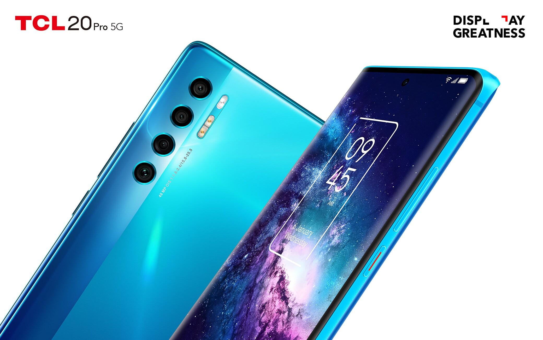 TCL 20 Pro 5G è lo smartphone di punta dell'azienda per il 2021