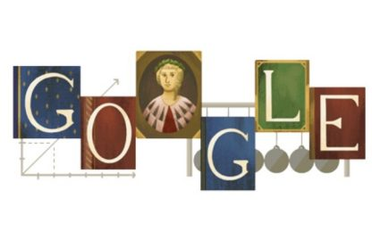 Doodle per Laura Bassi, prima donna al mondo con cattedra università