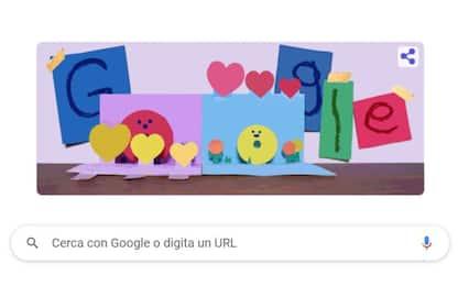Google dedica il doodle di oggi alla Festa della mamma