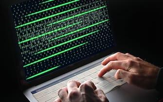Hacker in azione a Torino, 20 luglio 2021 ANSA/ ALESSANDRO DI MARCO