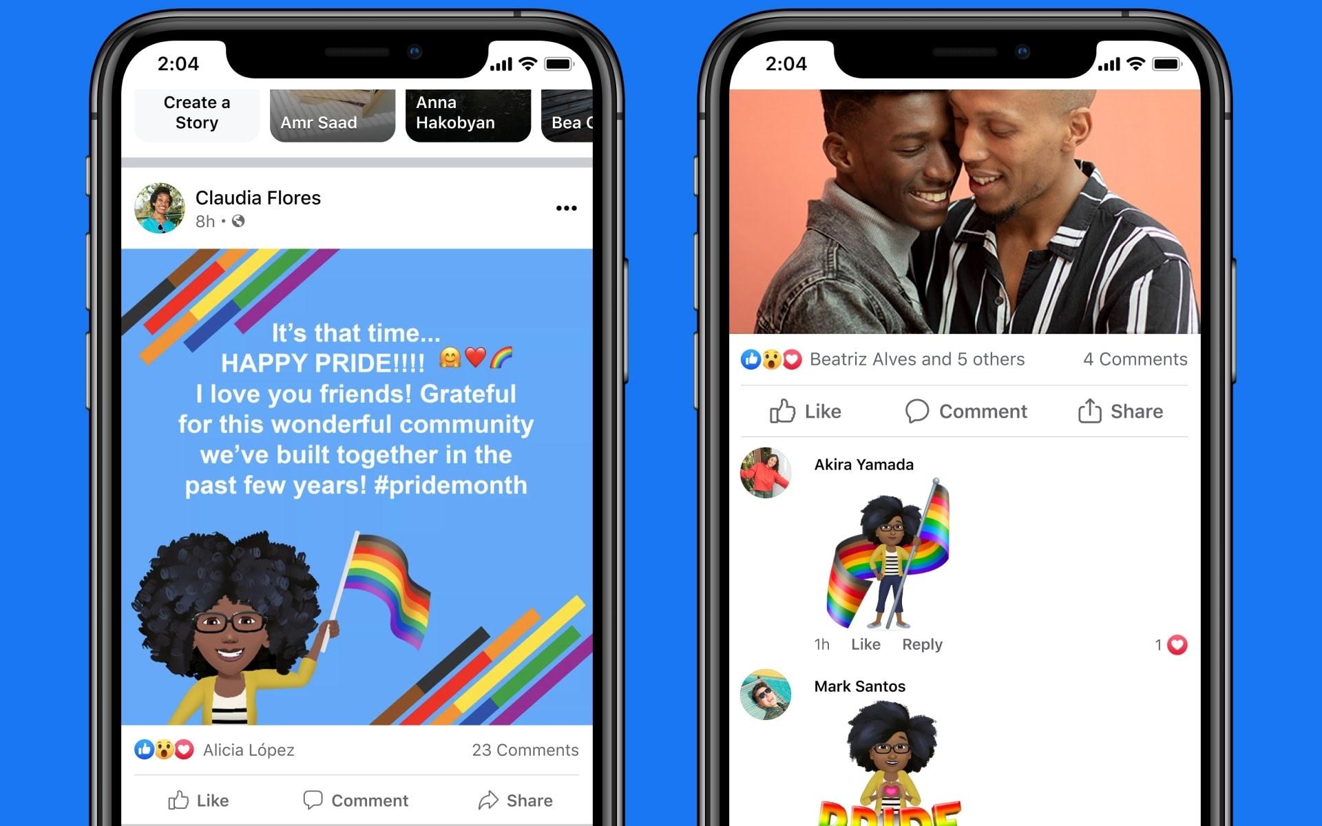Cornici e sfondi a tema Pride su Facebook
