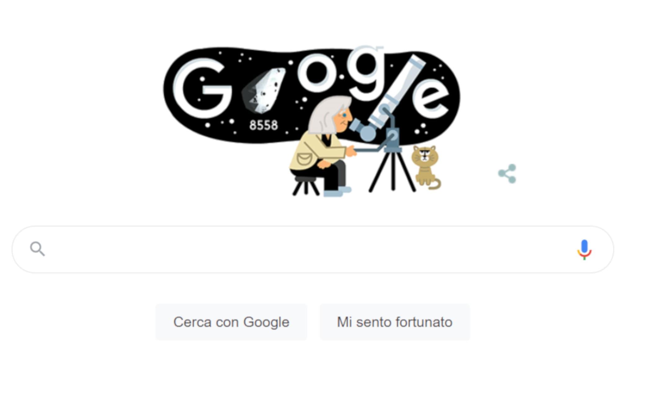 Il Doodle dedicato a Margherita Hack