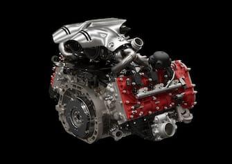 Il motore V6 turbo della nuova Ferrari 296GTB