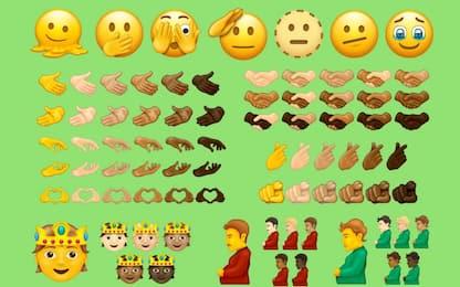 L'uomo incinto e la faccina che si scioglie: le nuove emoji 2021/2022