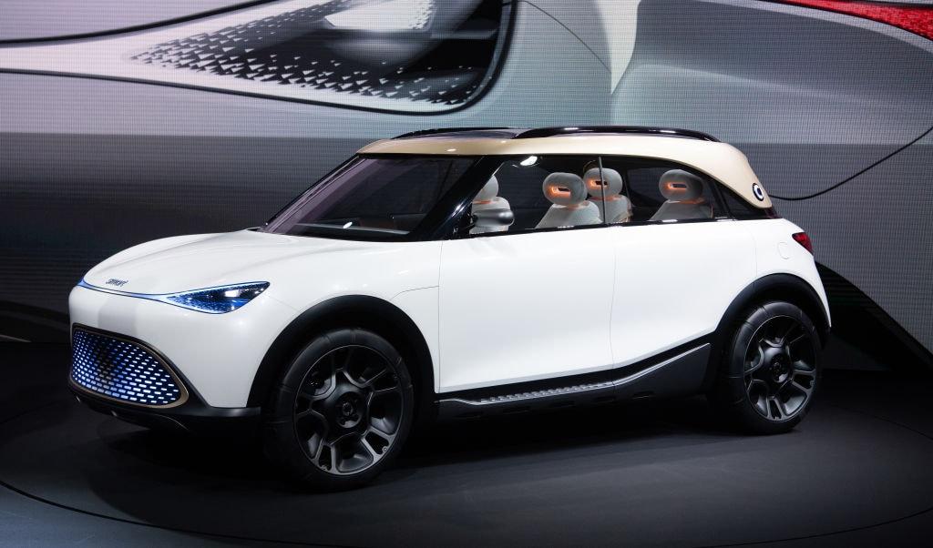 Il concept del nuovo suv Smart, 100% elettrico, al Salone dell'Auto di Monaco 2021