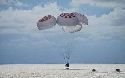 Inspiration4, le fasi dell'ammarraggio della missione di SpaceX. FOTO