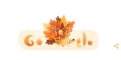 Il Doodle di Google di oggi dà il benvenuto all'autunno