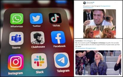WhatsApp, Facebook e Instagram non funzionano: i meme su Twitter. FOTO