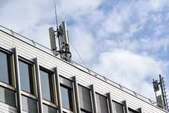 epa08823823 5G antennas are seen on the roofs of buildings in Bordeaux, France, 16 November 2020. The deployment of 5G in France will begin on 18 November 2020. Orange in leader, and SFR, Bouygues Telecom, Free Mobile have operating licenses and are granted on a basic basis for 15 years, with the possibility of extending them for fivee more years. The construction of the 5G network will take at least 10 years. It will switch to 100 percent 5G in 2030.  EPA/CB