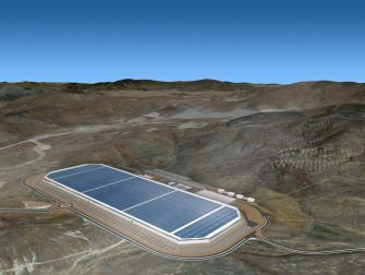 epa06064157 A handout photo made available by Tesla Motors on 03 July 2017 shows an aerial view of Tesla Gigafactory in Sparks, Nevada, USA, 03 January 2017.  EPA/HANDOUT HANDOUT FOR EDITORIAL USE ONLY, NO SALES. Mandatory credit: TESLA via european pressphoto agency HANDOUT EDITORIAL USE ONLY/NO SALES
