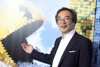 NEW YORK, NY - JULY 18:  Creator of the arcade game Pac-Man Professor Toru Iwatani attends the 'Pixels' New York premiere at Regal E-Walk on July 18, 2015 in New York City.  (Photo by Noam Galai/WireImage)