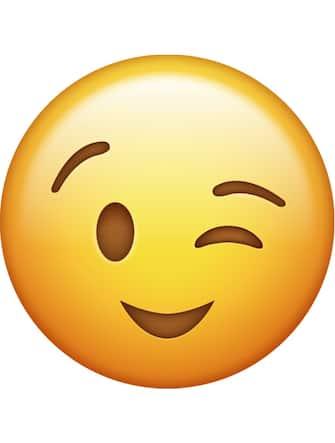 Emoji che fa l'occhiolino
