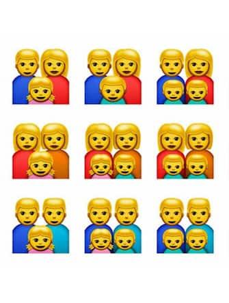 Emoji famiglia