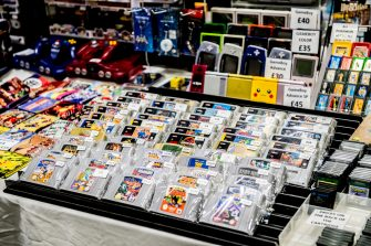 LONDON, ENGLAND - MAY 24: Retro video games for sale during Day 1 of London MCM Comic Con 2019 at ExCel on May 24, 2019 in London, England. (Photo by Ollie Millington/Getty Images)