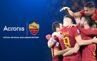 Cybersicurezza e analisi dati: firmata partnership Acronis-AS Roma