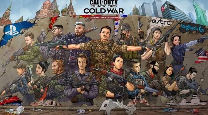 artwork realizzato dal disegnatore Giovanni Timpano  per il lancio di COD