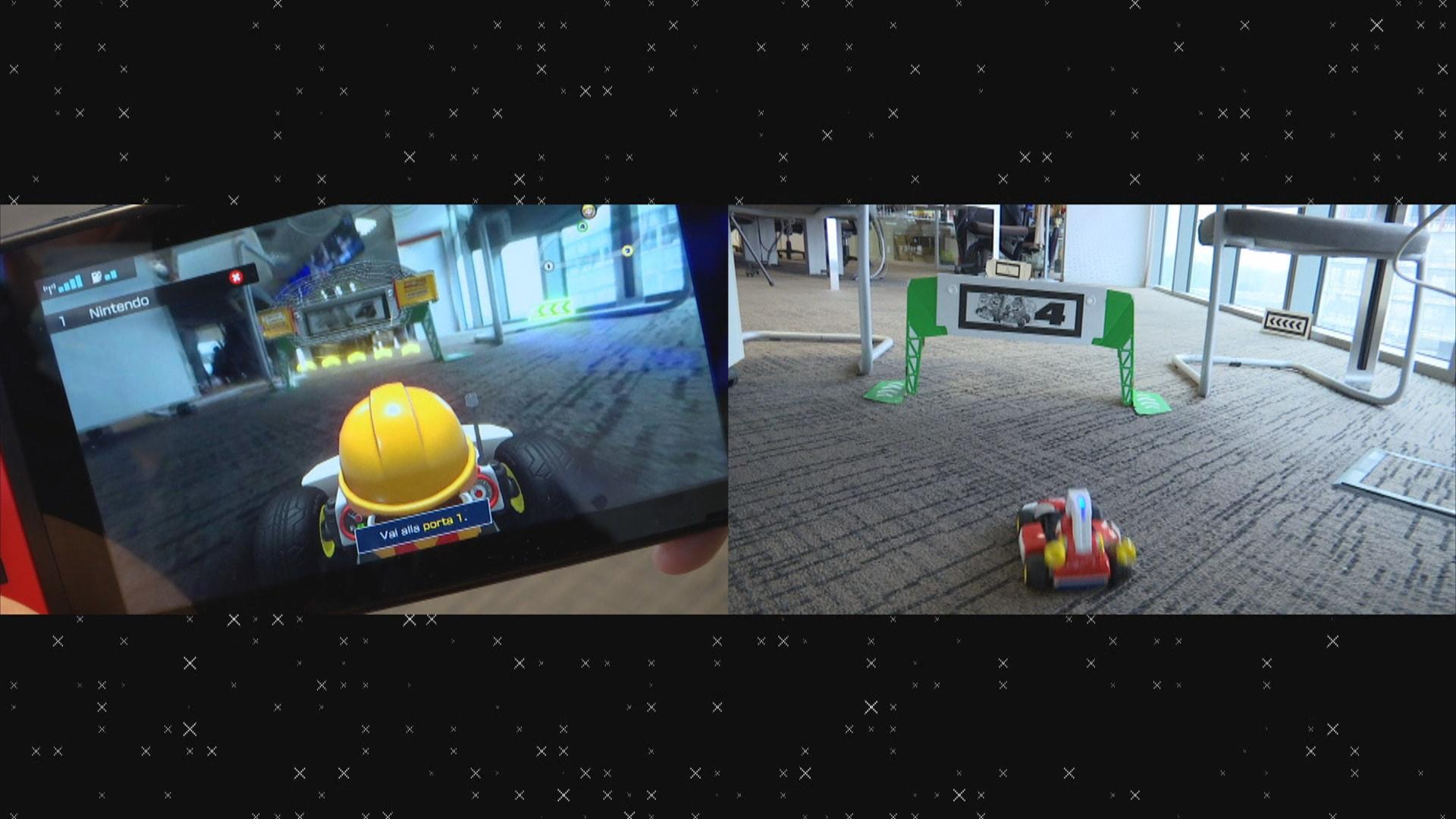 Mario Kart Live nella redazione di Sky tg24