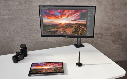 Monitor UltraFine Ergo di LG, smart working ai massimi livelli