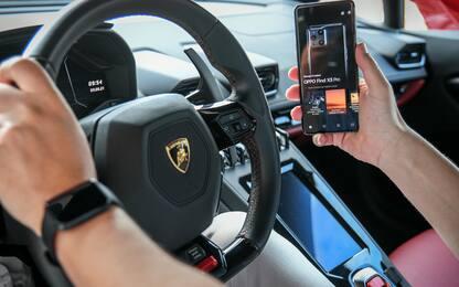 Test di velocità, in Lamborghini con OPPO Find X3 Pro