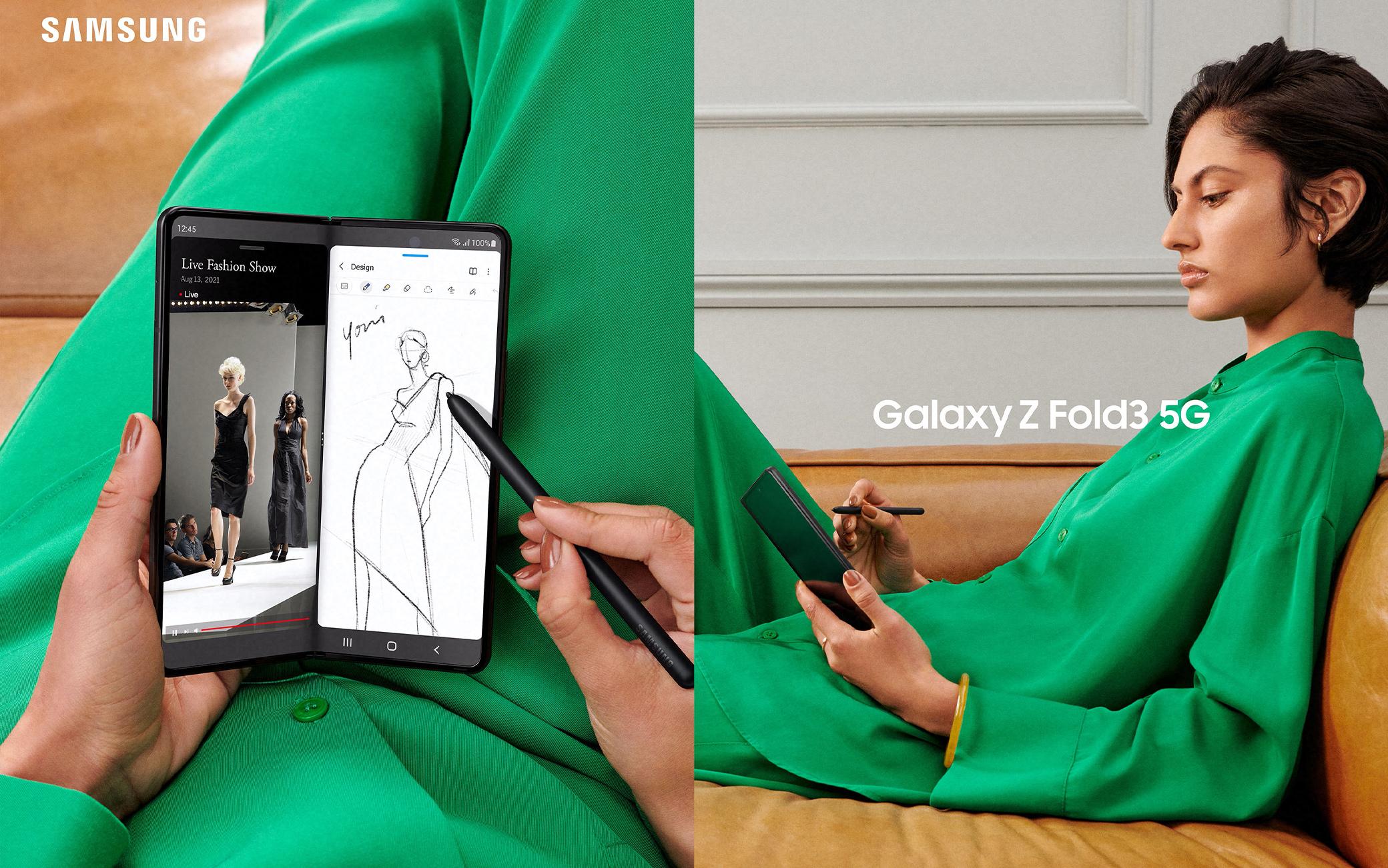 Il nuovo smartphone pieghevole di Samsung, Galaxy Z Fold3 5G