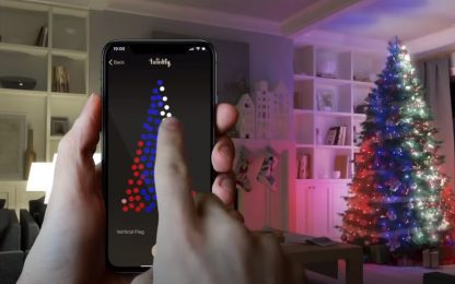 Twinkly, luci dell'albero di Natale e decorazioni in casa smart