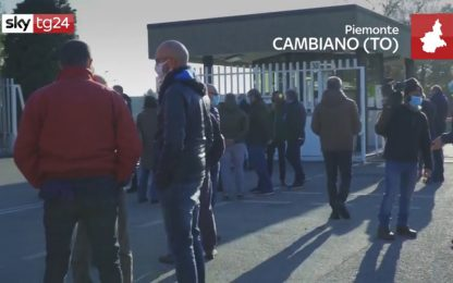 Cambiano, la protesta dei lavoratori di Pininfarina Engineering. VIDEO