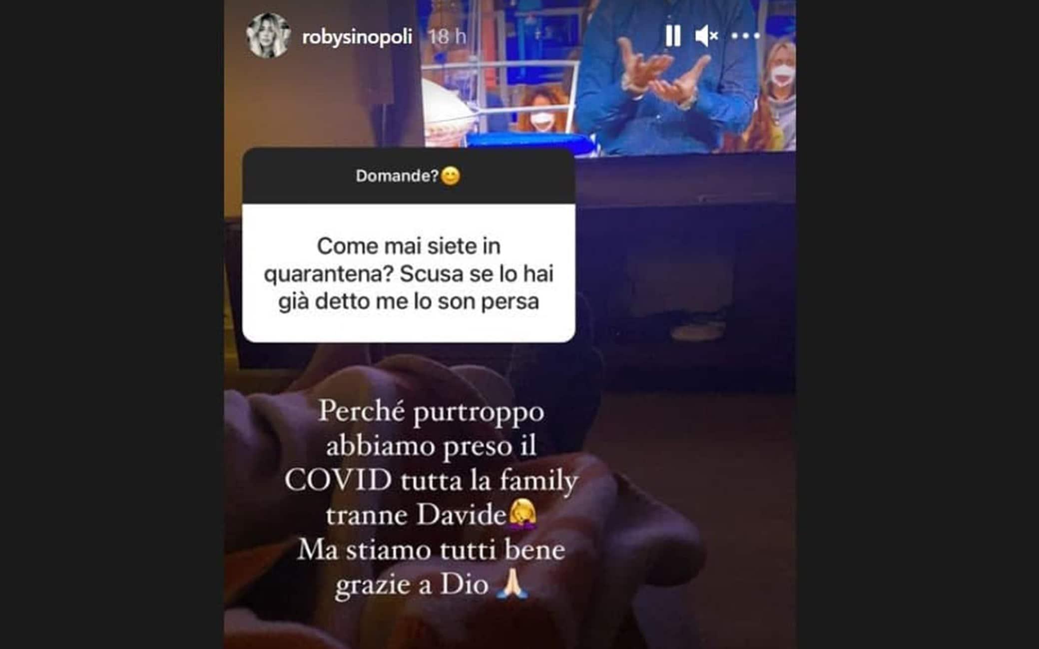 La storia Instagram in cui Roberta Sinopoli annuncia la positività di Marchisio